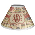 Chevron & Fall Flowers Coolie Lamp Shade (Personalized)