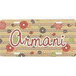 Chevron & Fall Flowers Front License Plate (Personalized)