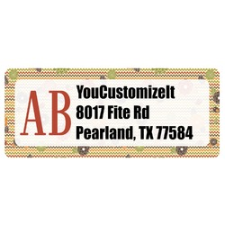Chevron & Fall Flowers Return Address Labels (Personalized)
