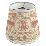 Chevron & Fall Flowers Empire Lamp Shade (Personalized)
