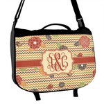 Chevron & Fall Flowers Messenger Bag (Personalized)