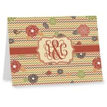 Chevron & Fall Flowers Note cards (Personalized)