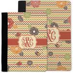 Chevron & Fall Flowers Notebook Padfolio w/ Couple's Names