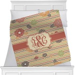 Chevron & Fall Flowers Minky Blanket (Personalized)