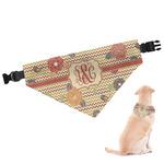 Chevron & Fall Flowers Dog Bandana (Personalized)