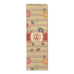 Chevron & Fall Flowers Runner Rug - 3.66'x8' (Personalized)