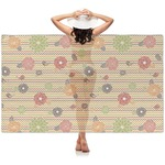 Chevron & Fall Flowers Sheer Sarong (Personalized)