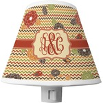 Chevron & Fall Flowers Shade Night Light (Personalized)
