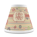 Chevron & Fall Flowers Chandelier Lamp Shade (Personalized)