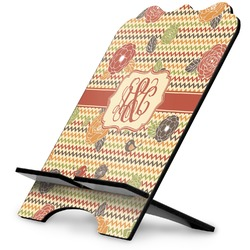Chevron & Fall Flowers Stylized Tablet Stand (Personalized)
