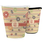 Chevron & Fall Flowers Waste Basket (Personalized)