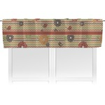 Chevron & Fall Flowers Valance (Personalized)