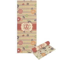 Chevron & Fall Flowers Yoga Mat - Printable Front and Back (Personalized)