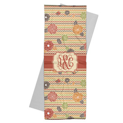 Chevron & Fall Flowers Yoga Mat Towel (Personalized)