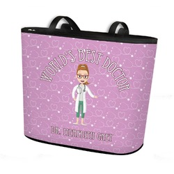 Doctor Avatar Bucket Tote w/ Genuine Leather Trim (Personalized)