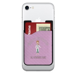 Doctor Avatar 2-in-1 Cell Phone Credit Card Holder & Screen Cleaner (Personalized)