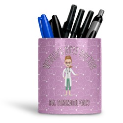 Doctor Avatar Ceramic Pen Holder