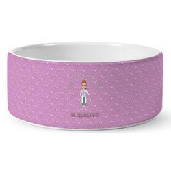Doctor Avatar Ceramic Dog Bowl (Personalized)