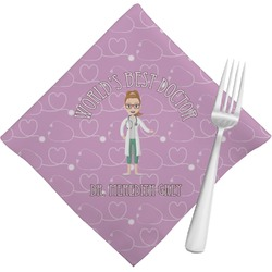 Doctor Avatar Cloth Napkins (Set of 4) (Personalized)