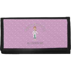 Doctor Avatar Canvas Checkbook Cover (Personalized)