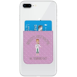 Doctor Avatar Genuine Leather Adhesive Phone Wallet (Personalized)