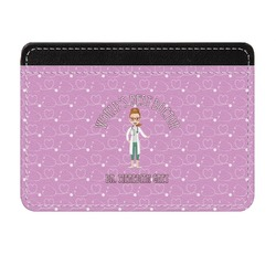 Doctor Avatar Genuine Leather Front Pocket Wallet (Personalized)