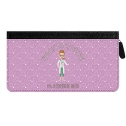 Doctor Avatar Genuine Leather Ladies Zippered Wallet (Personalized)