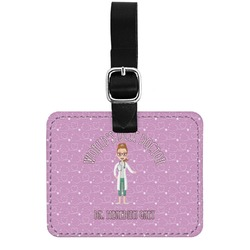 Doctor Avatar Genuine Leather Rectangular  Luggage Tag (Personalized)