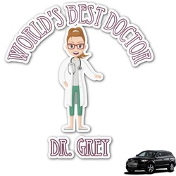 Doctor Avatar Graphic Car Decal (Personalized)
