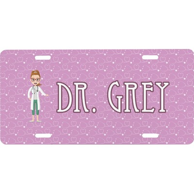 Doctor Avatar Front License Plate (Personalized)