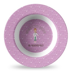Doctor Avatar Plastic Bowl - Microwave Safe - Composite Polymer (Personalized)