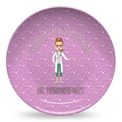 Doctor Avatar Microwave Safe Plastic Plate - Composite Polymer (Personalized)