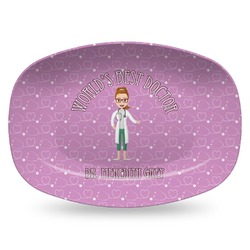 Doctor Avatar Plastic Platter - Microwave & Oven Safe Composite Polymer (Personalized)