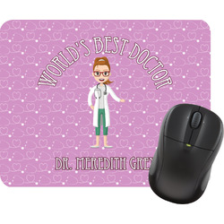 Doctor Avatar Rectangular Mouse Pad (Personalized)