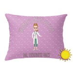 Doctor Avatar Outdoor Throw Pillow (Rectangular) (Personalized)