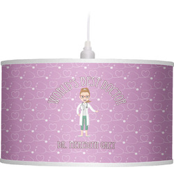 Doctor Avatar Drum Pendant Lamp Poly-Film (Personalized)