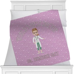 """Doctor Avatar Fleece Blanket - Queen / King - 90""""x90"""" - Double Sided (Personalized)"""