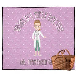 Doctor Avatar Outdoor Picnic Blanket (Personalized)