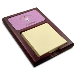 Doctor Avatar Red Mahogany Sticky Note Holder (Personalized)