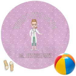 Doctor Avatar Round Beach Towel (Personalized)