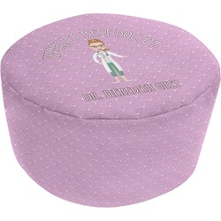 Doctor Avatar Round Pouf Ottoman (Personalized)