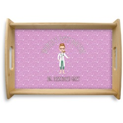Doctor Avatar Natural Wooden Tray - Small (Personalized)