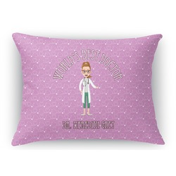 Doctor Avatar Rectangular Throw Pillow Case (Personalized)