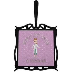 Doctor Avatar Trivet with Handle (Personalized)