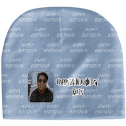 Photo Birthday Baby Hat (Beanie) (Personalized)