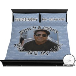 Photo Birthday Duvet Cover Set - King (Personalized)