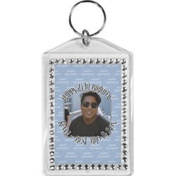 Photo Birthday Bling Keychain (Personalized)