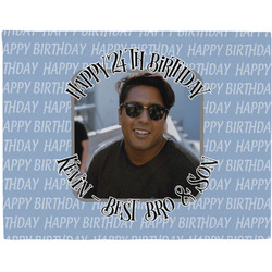 Photo Birthday Woven Fabric Placemat - Twill