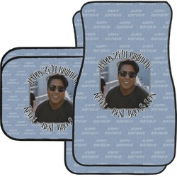 Photo Birthday Car Floor Mats Set - 2 Front & 2 Back (Personalized)