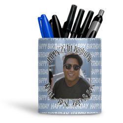 Photo Birthday Ceramic Pen Holder